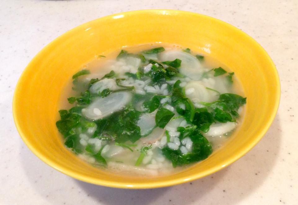 rice porridge with seven spring herbs