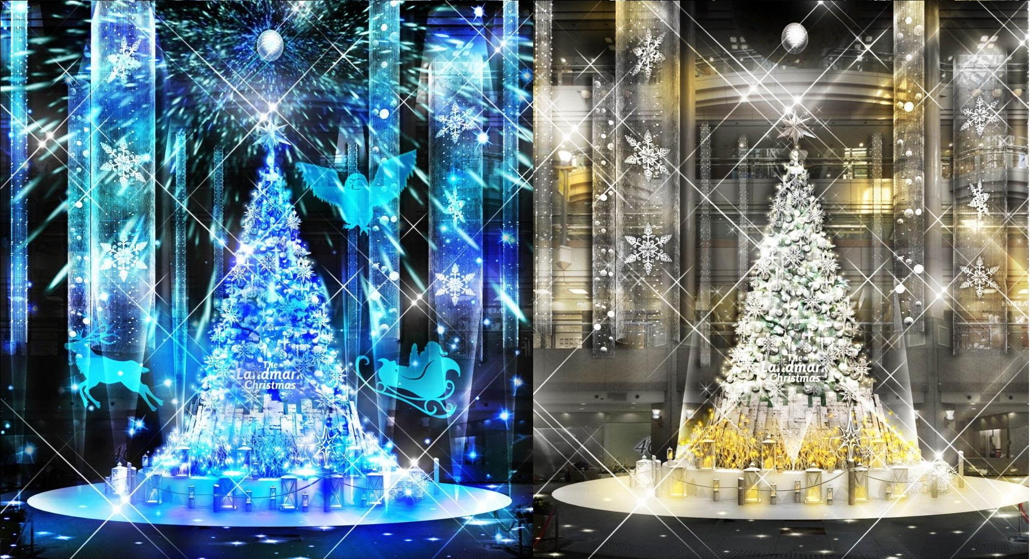 クリスマスイルミネーションツリー